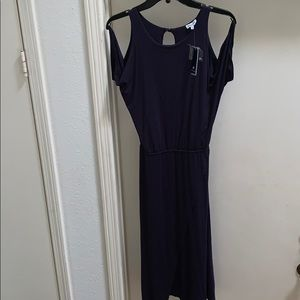 NWT Splendid Navy Blue Cold Shoulder Dress Medium